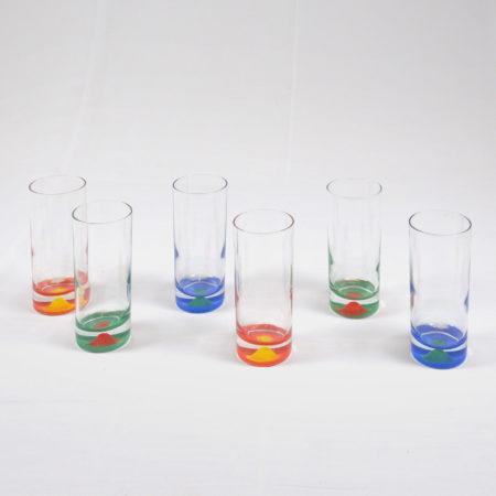 Lot de 6 verres colorés