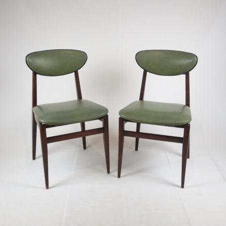 <strike>Lot de 2 chaises type scandinave années 60</strike>