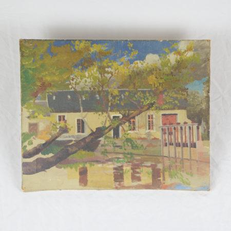Tableau ancien 'Moulin de Châteauroux'