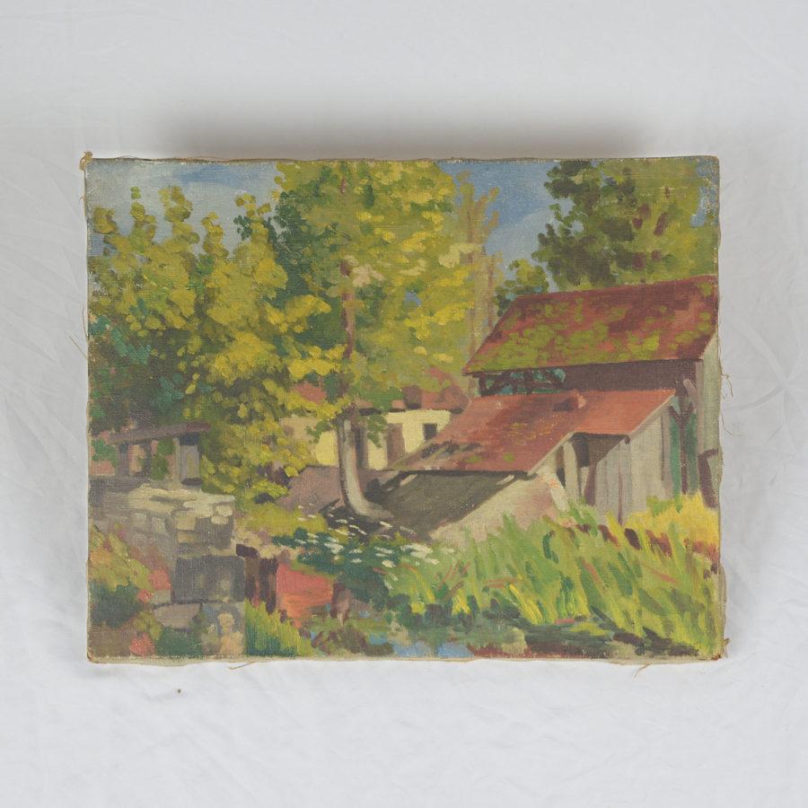 Tableau ancien 'Moulin de Châteauroux' - DSC_9866.jpg