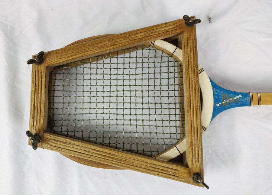 Lot de 3 raquettes de Tennis anciennes - raquette-1-approche-1.jpg