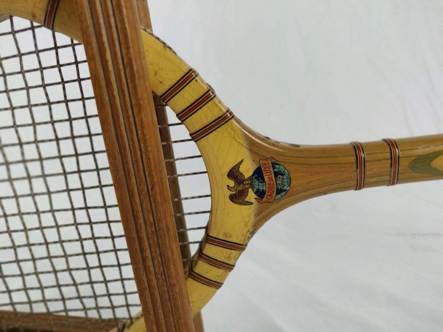 Lot de 3 raquettes de Tennis anciennes - raquette-3-détail.jpg