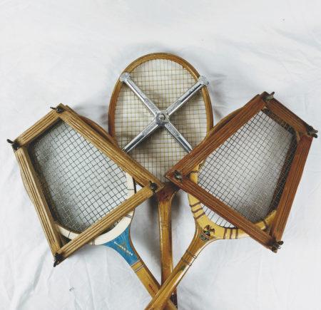 Lot de 3 raquettes de Tennis anciennes